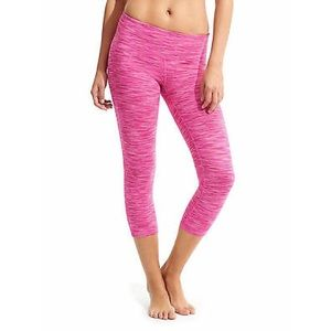Athleta Pink Energy Chaturanga Capri Legging